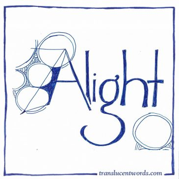"One-Word Journal Prompts: ""Alight"""