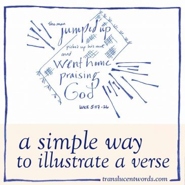 A Simple Way to Illustrate a Verse