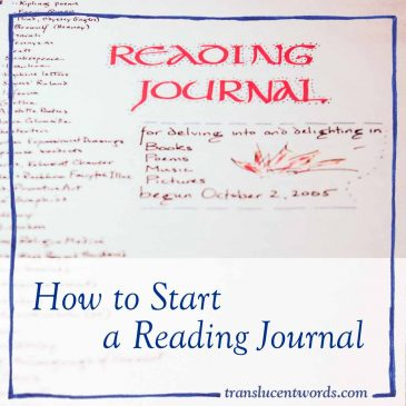 How to Start a Reading Journal