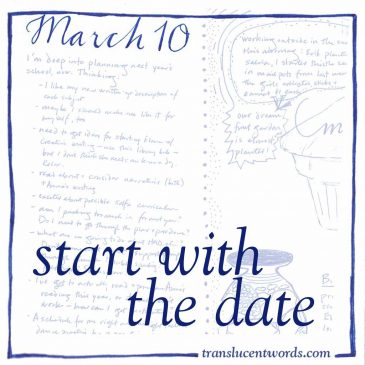 The Blank Journal Page: Start With the Date
