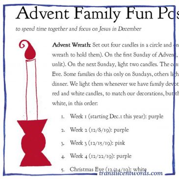 Advent Family Fun Possibilities